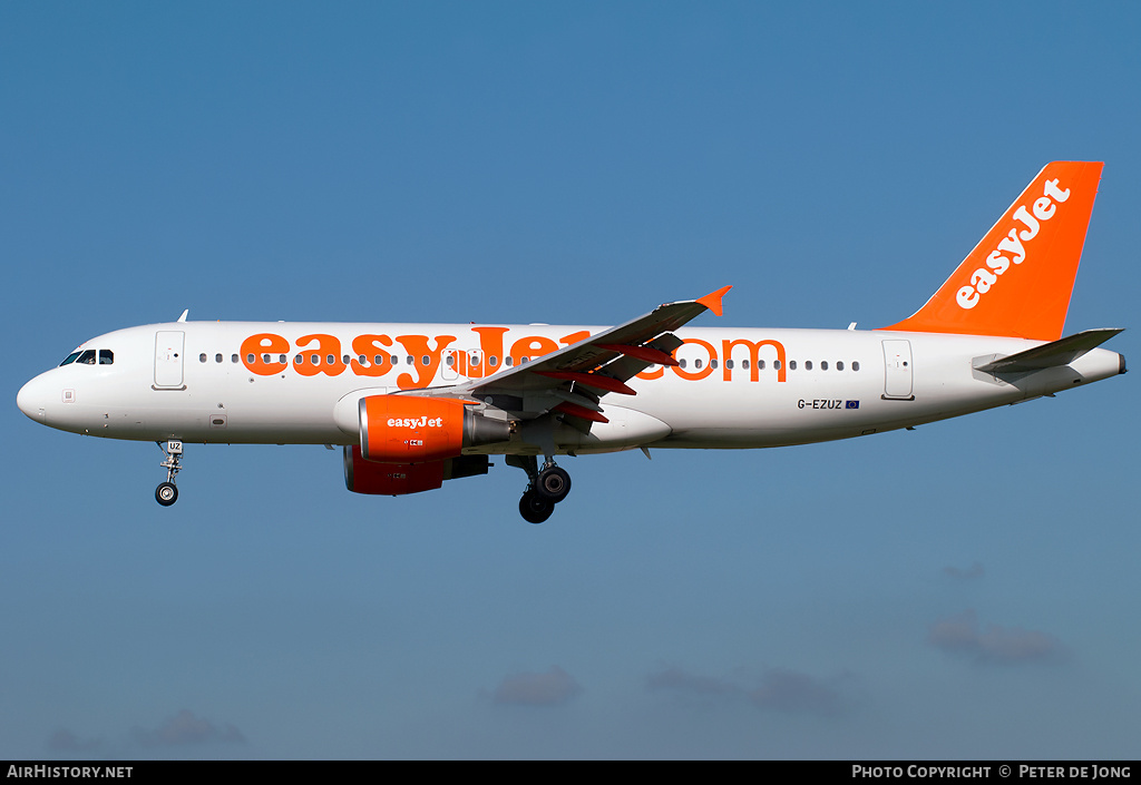 Aircraft Photo of G-EZUZ | Airbus A320-214 | EasyJet | AirHistory.net #5187