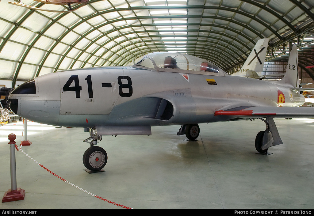 Aircraft Photo of E.15-51 | Lockheed T-33A | Spain - Air Force | AirHistory.net #5270