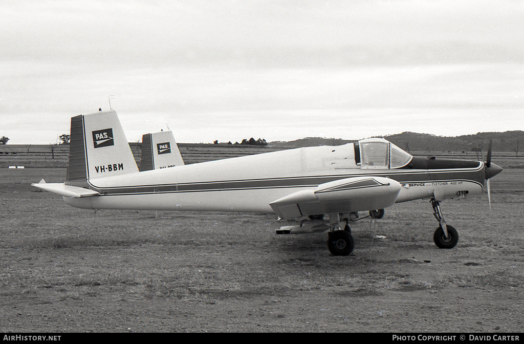 Aircraft Photo of VH-BBM | Fletcher FU-24A A4 | Pay's Air Service | AirHistory.net #5338