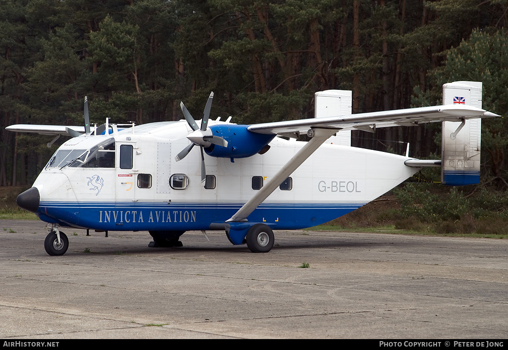 Aircraft Photo of G-BEOL | Short SC.7 Skyvan 3-100 | Invicta Aviation | AirHistory.net #5363
