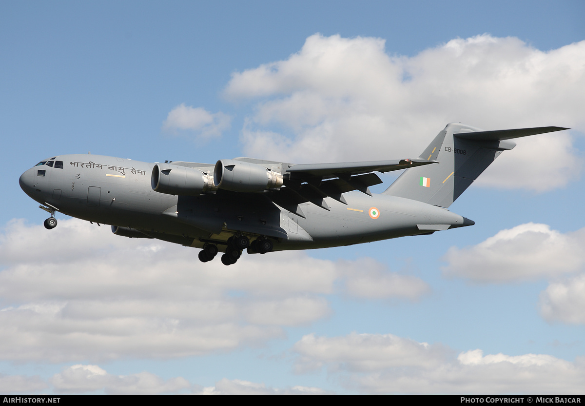 Aircraft Photo of CB-8008 | Boeing C-17A Globemaster III | India - Air Force | AirHistory.net #5639