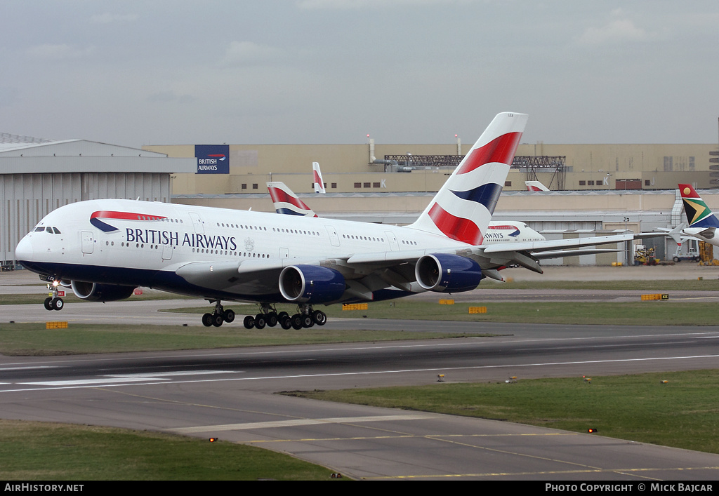 Aircraft Photo of G-XLEA | Airbus A380-841 | British Airways | AirHistory.net #6186
