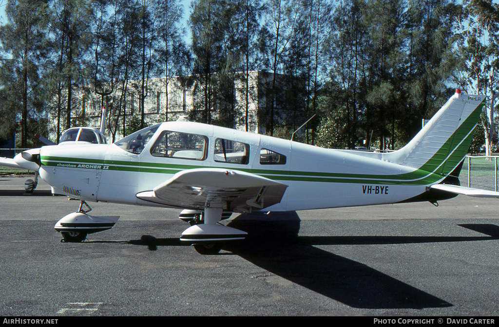 Aircraft Photo of VH-BYE | Piper PA-28-181 Cherokee Archer II | AirHistory.net #6210