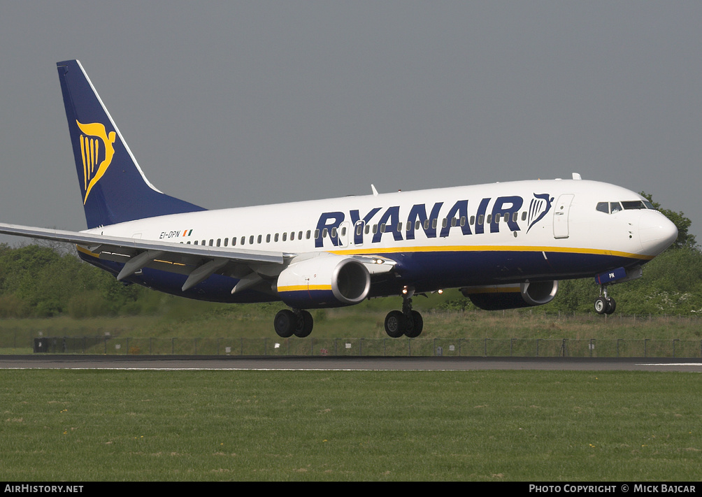 Aircraft Photo of EI-DPN | Boeing 737-8AS | Ryanair | AirHistory.net