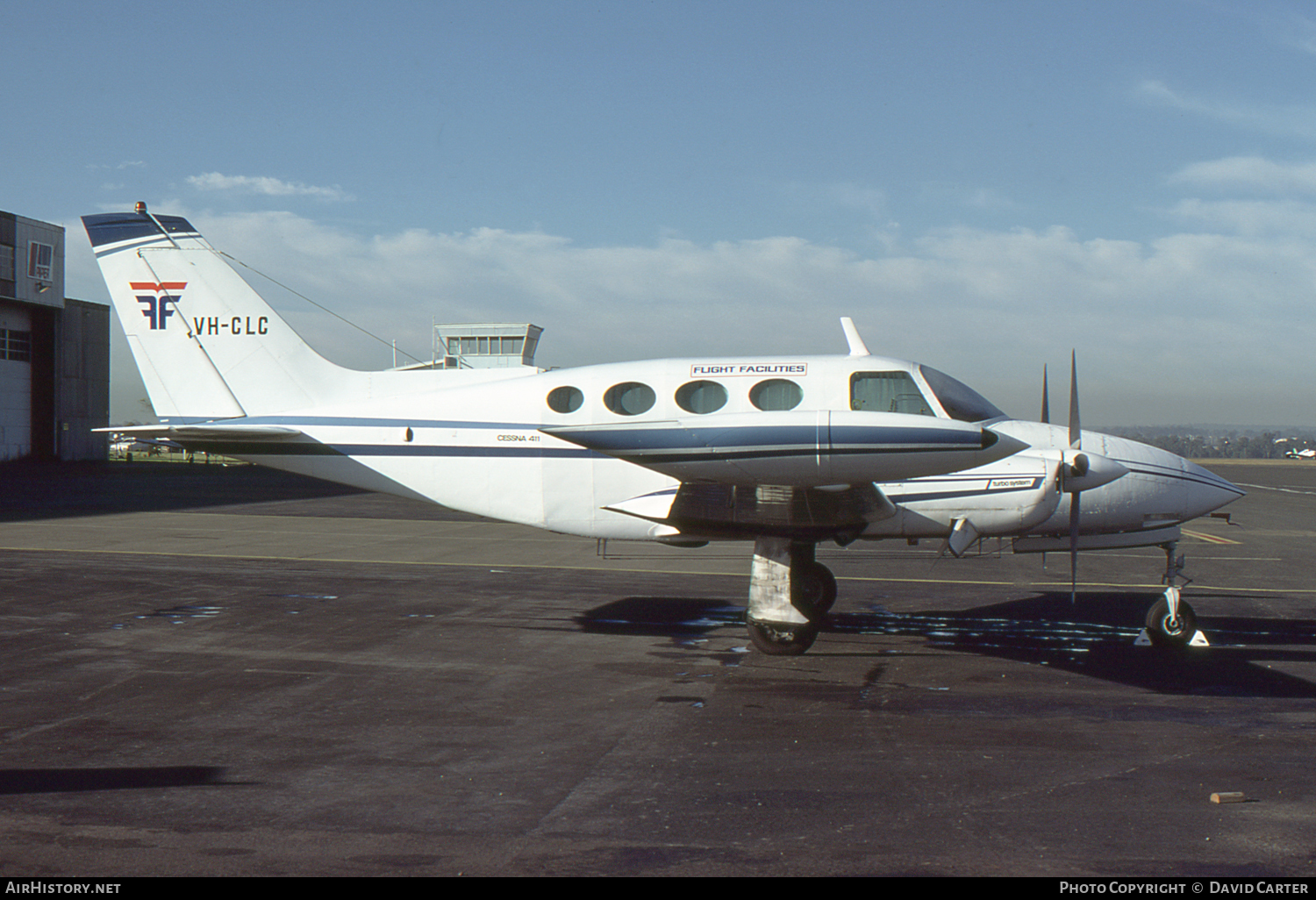 Aircraft Photo of VH-CLC | Cessna 411 | Flight Facilities | AirHistory.net #6567