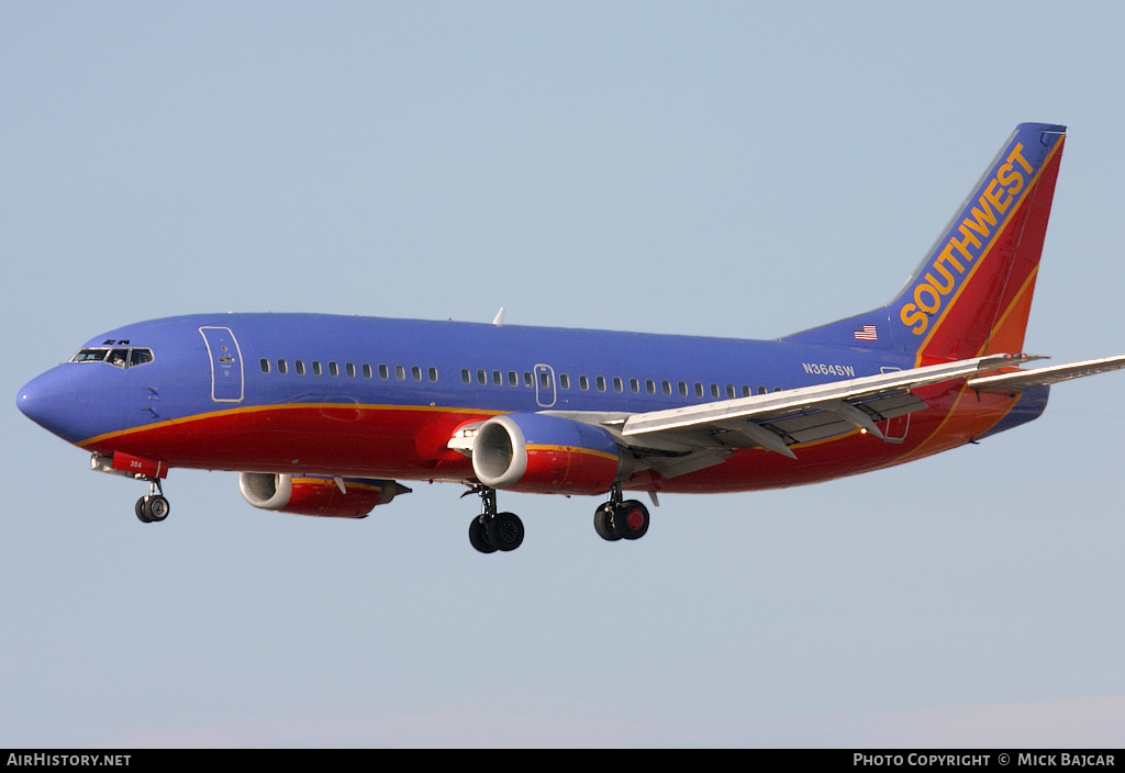 Aircraft Photo of N364SW | Boeing 737-3H4 | Southwest Airlines | AirHistory.net
