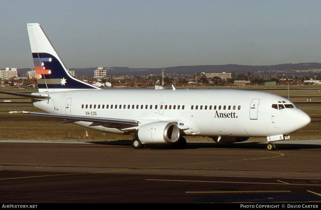 Aircraft Photo of VH-CZG | Boeing 737-377 | Ansett | AirHistory.net