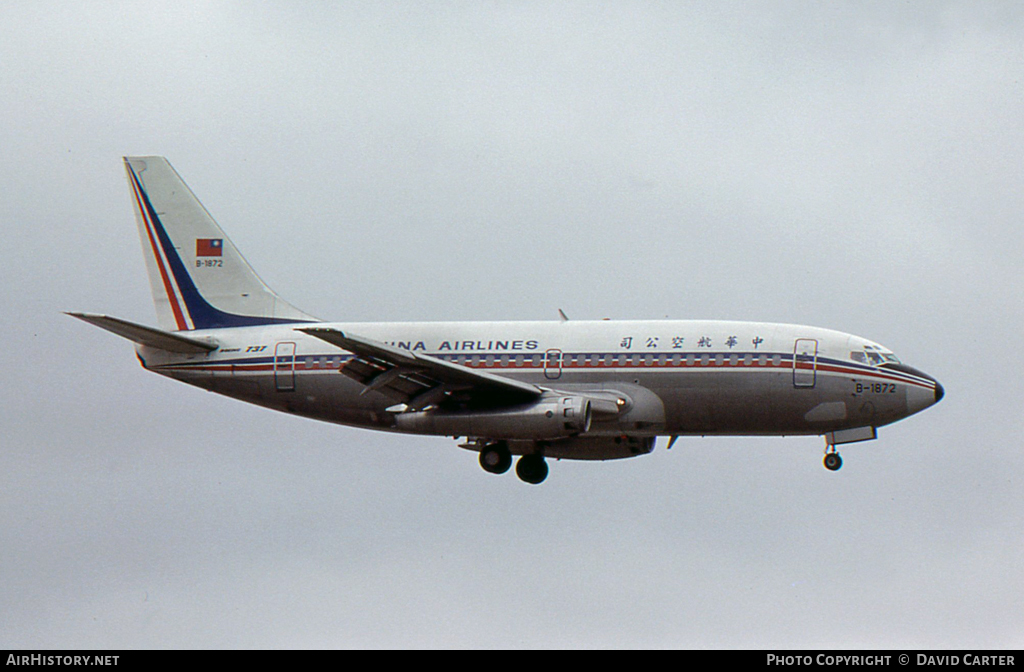 Aircraft Photo of B-1872 | Boeing 737-281 | China Airlines | AirHistory.net #6871