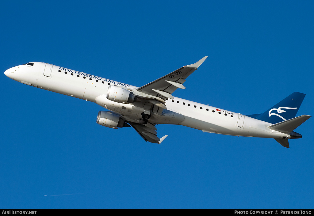 Aircraft Photo of 4O-AOB | Embraer 195LR (ERJ-190-200LR) | Montenegro Airlines | AirHistory.net #7263