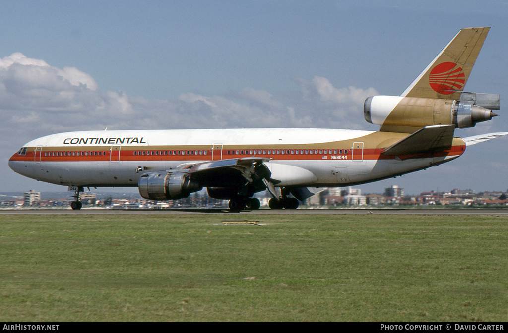 Aircraft Photo of N68044 | McDonnell Douglas DC-10-10 | Continental Airlines | AirHistory.net