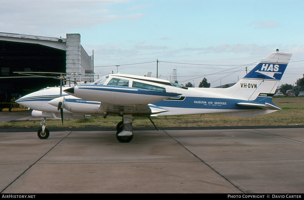 Aircraft Photo of VH-DVN | Cessna 310R | Hazelton Air Services - HAS | AirHistory.net