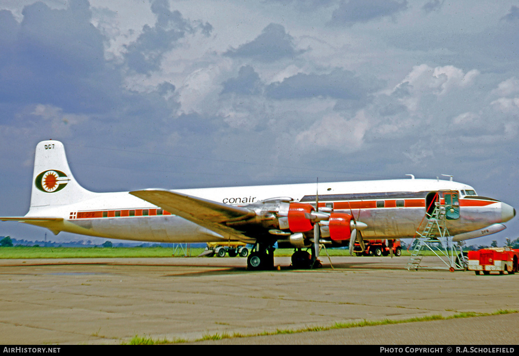 Aircraft Photo of OY-DFR | Douglas DC-7 | Conair of Scandinavia | AirHistory.net #7805