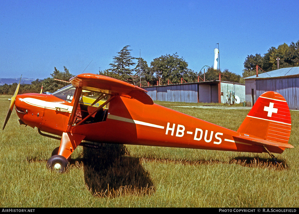 Aircraft Photo of HB-DUS | Luscombe 8A Silvaire | AirHistory.net #7898
