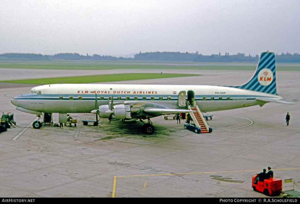 Aircraft Photo of PH-DSP | Douglas DC-7C | KLM - Royal Dutch Airlines | AirHistory.net #7936