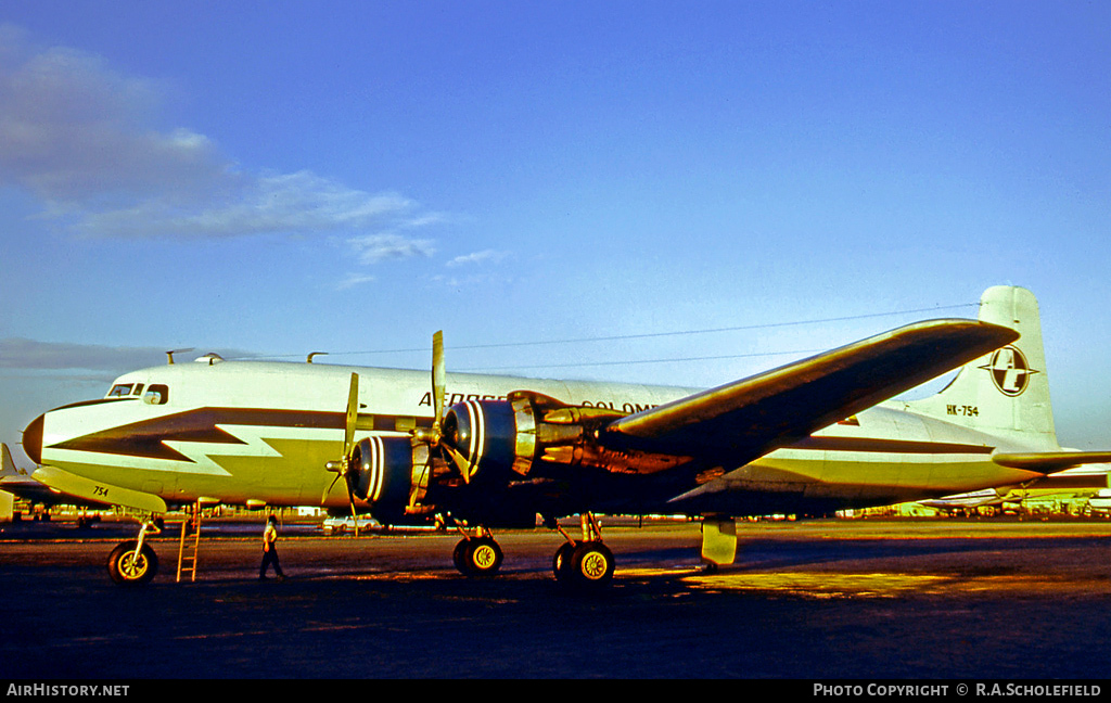 Aircraft Photo of HK-754 | Douglas DC-6(F) | Aerocosta Colombia | AirHistory.net #8221