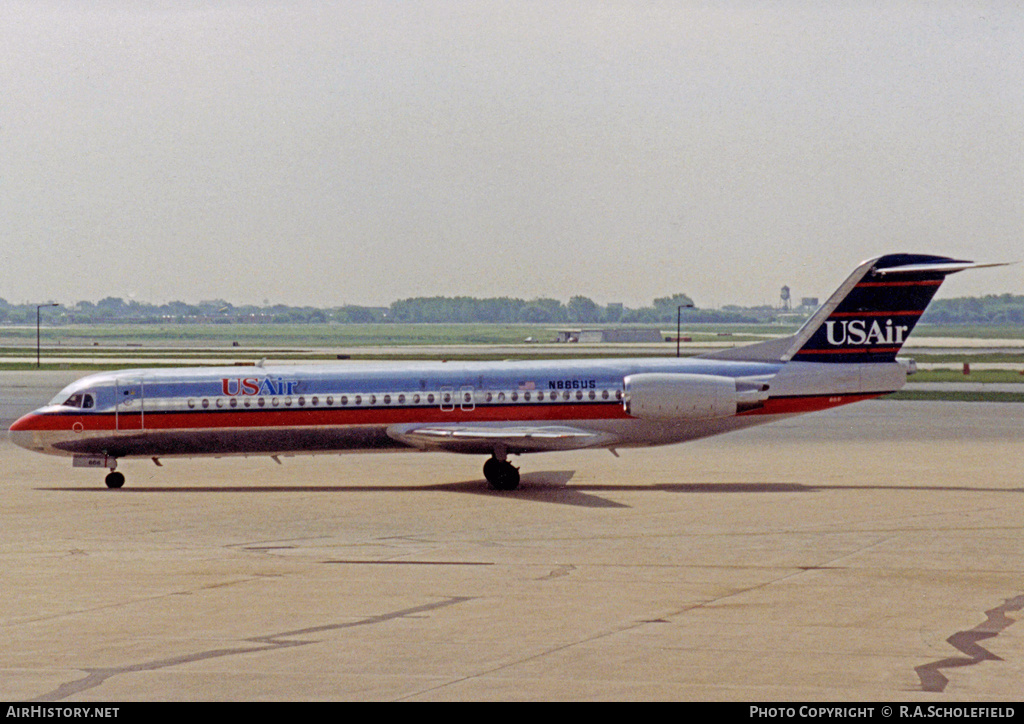 Aircraft Photo of N866US | Fokker 100 (F28-0100) | USAir | AirHistory.net #8558