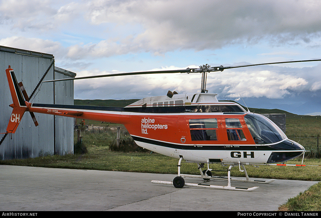 Aircraft Photo of ZK-HGH | Bell 206B JetRanger II | Alpine Helicopters | AirHistory.net #8814