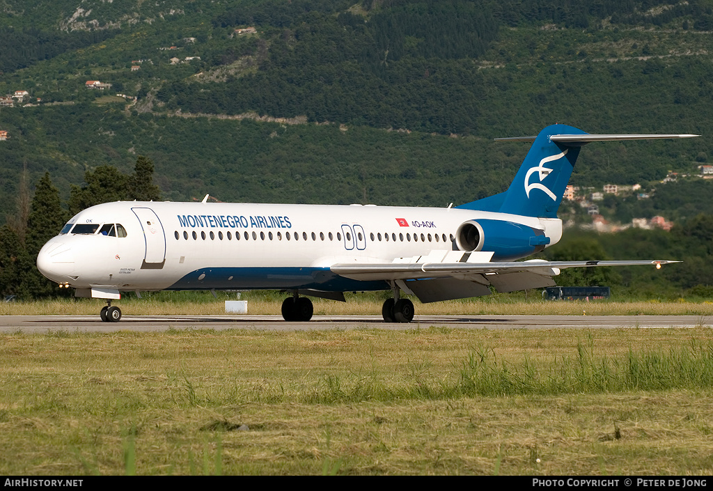 Aircraft Photo of 4O-AOK | Fokker 100 (F28-0100) | Montenegro Airlines | AirHistory.net #8857