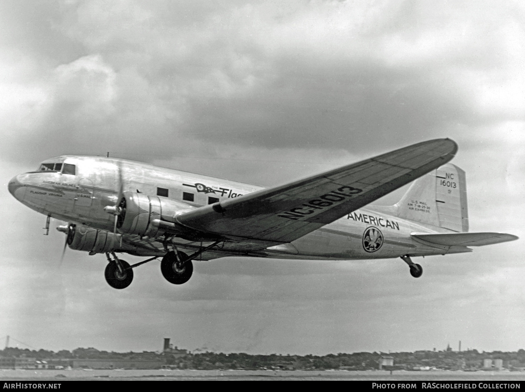 Aircraft Photo of NC16013 | Douglas DC-3-178 | American Airlines | AirHistory.net #9248