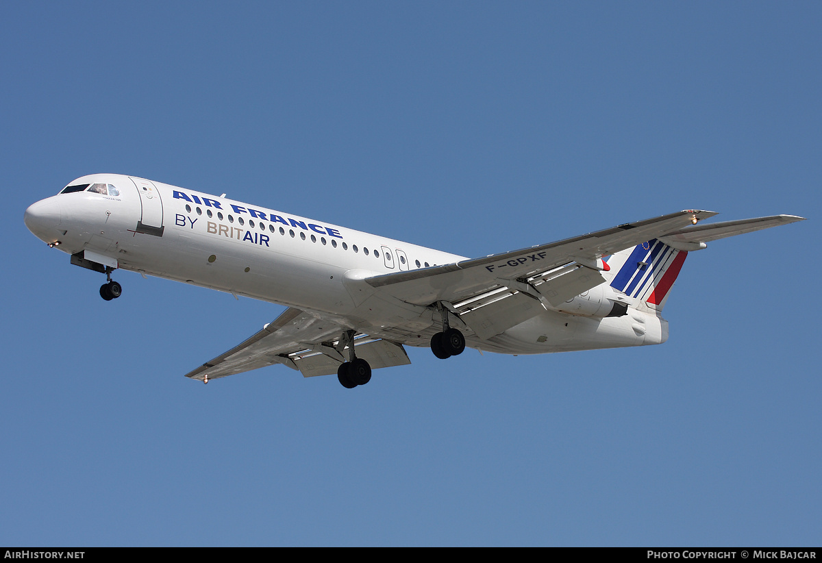 Aircraft Photo of F-GPXF | Fokker 100 (F28-0100) | Air France | AirHistory.net