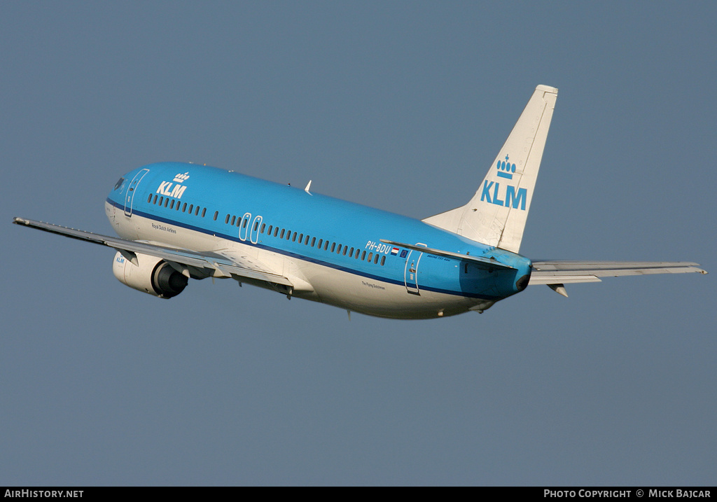 Aircraft Photo of PH-BDU | Boeing 737-406 | KLM - Royal Dutch Airlines | AirHistory.net