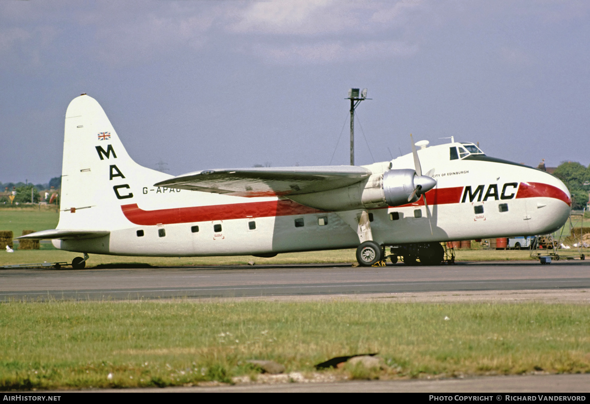 Aircraft Photo of G-APAU | Bristol 170 Freighter Mk32 | Midland Air Cargo - MAC | AirHistory.net