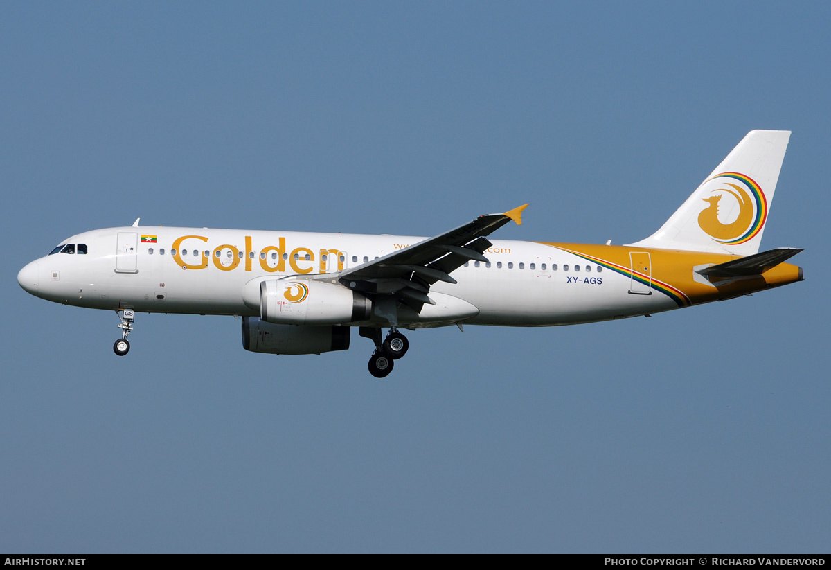 Aircraft Photo of XY-AGS | Airbus A320-232 | Golden Myanmar Airlines | AirHistory.net #21981