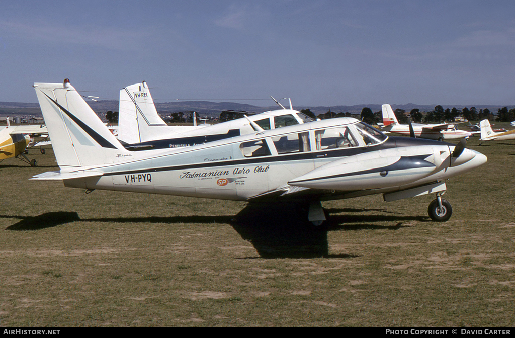 Aircraft Photo of VH-PYQ | Piper PA-30-160 Twin Comanche B | Tasmanian Aero Club | AirHistory.net #25140