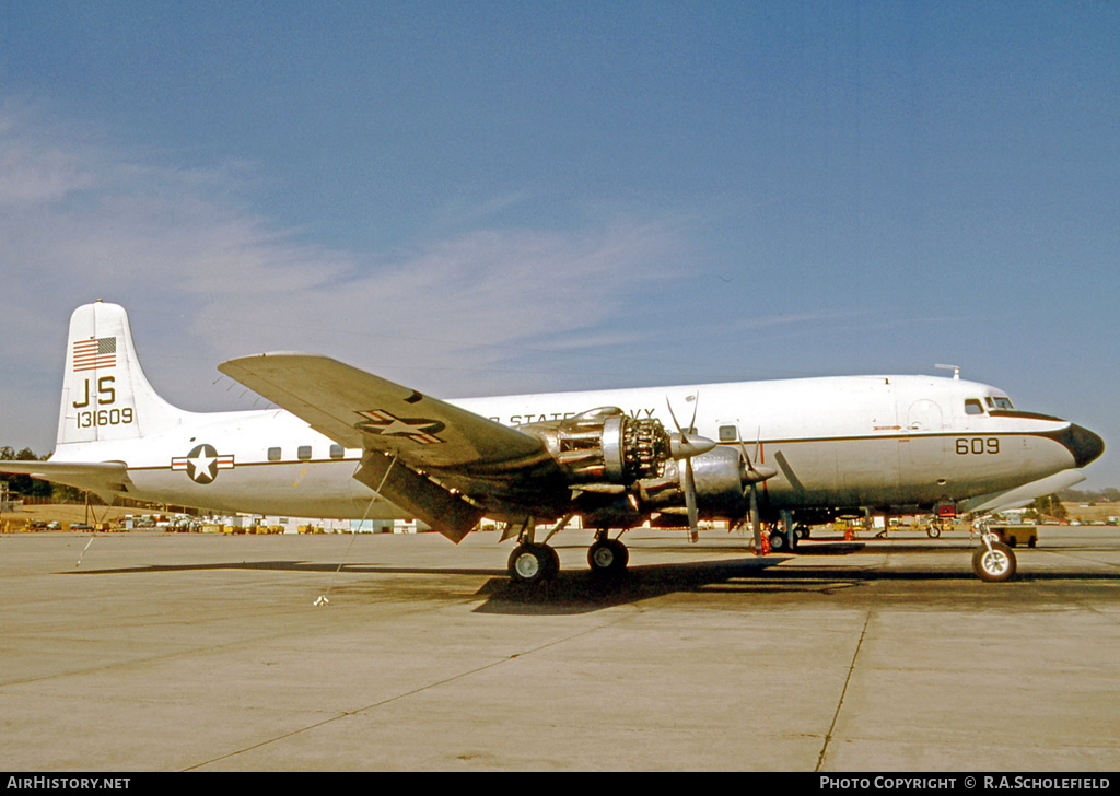 Aircraft Photo of 131609 | Douglas C-118B Liftmaster (DC-6A) | USA - Navy | AirHistory.net #25244