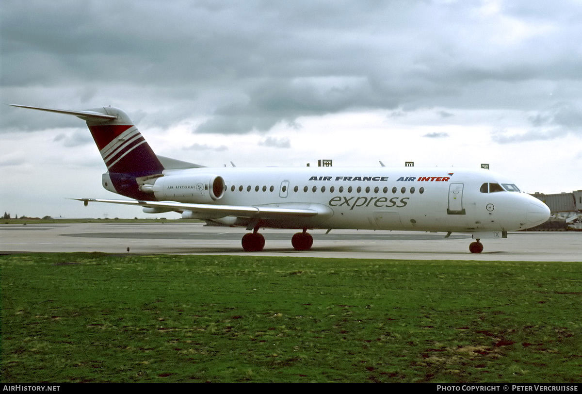 Aircraft Photo of F-GLIX | Fokker 70 (F28-0070) | Air France Express | AirHistory.net #25735