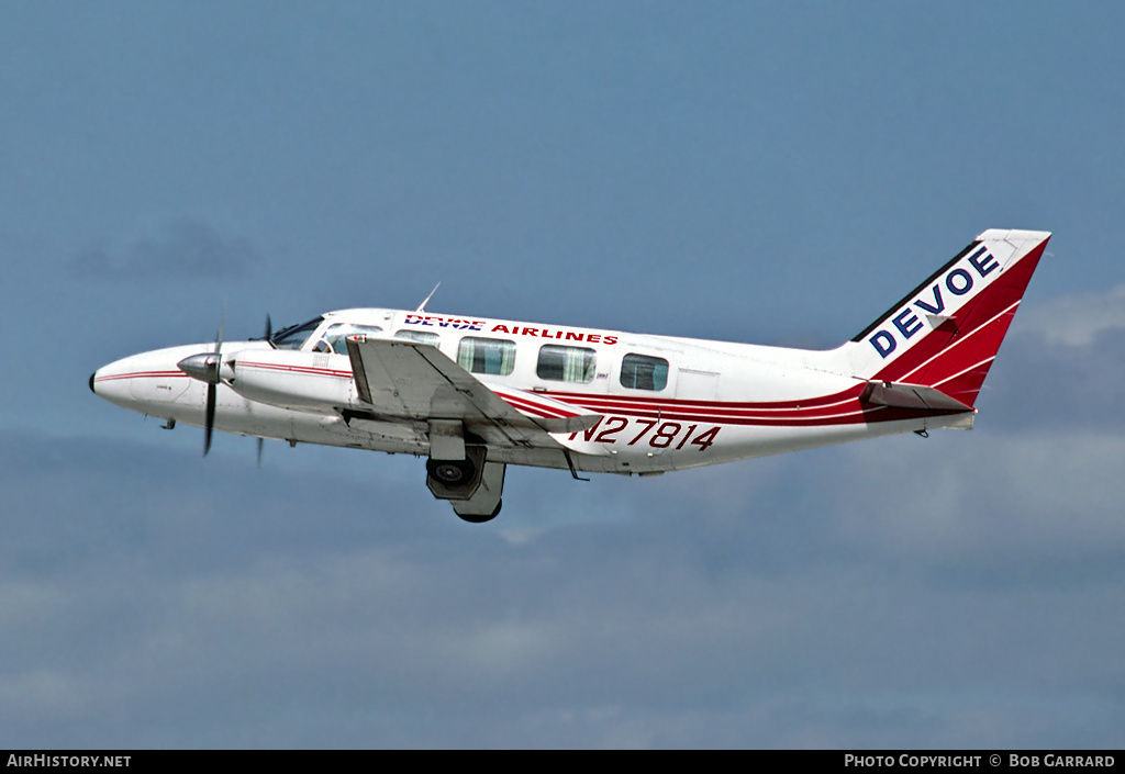 Aircraft Photo of N27814 | Piper PA-31-350 Navajo Chieftain | Devoe Airlines | AirHistory.net #26484