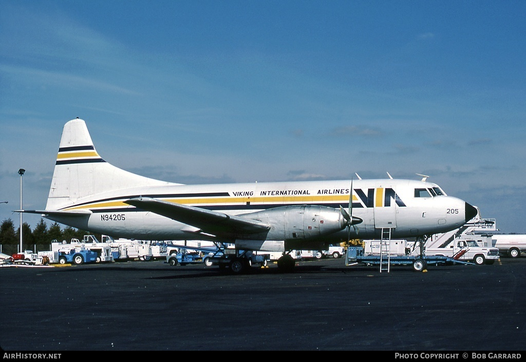 Aircraft Photo of N94205 | Convair 600/F | Viking International Airlines | AirHistory.net #27458