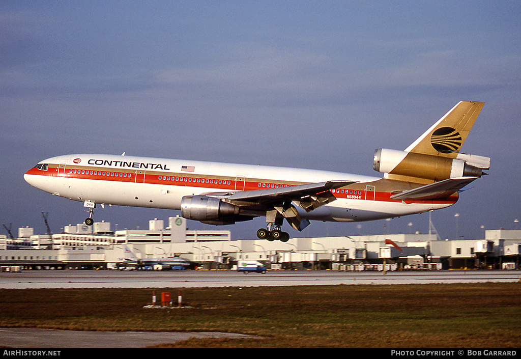 Aircraft Photo of N68044 | McDonnell Douglas DC-10-10 | Continental Airlines | AirHistory.net #27898