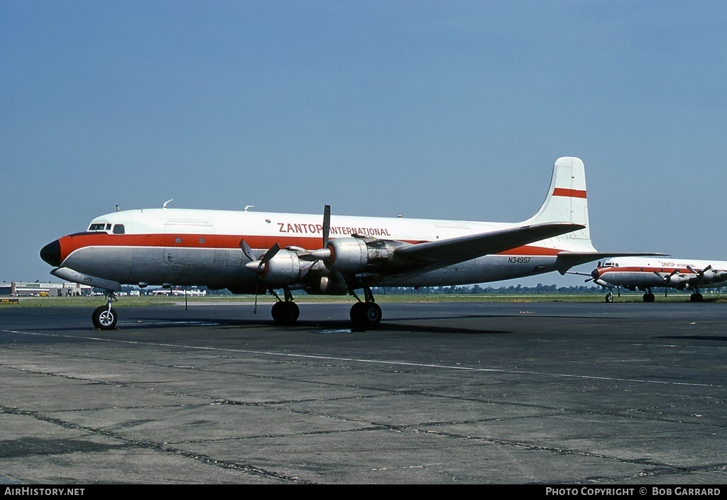 Aircraft Photo of N34957 | Douglas DC-6A | Zantop International Airlines | AirHistory.net #28657