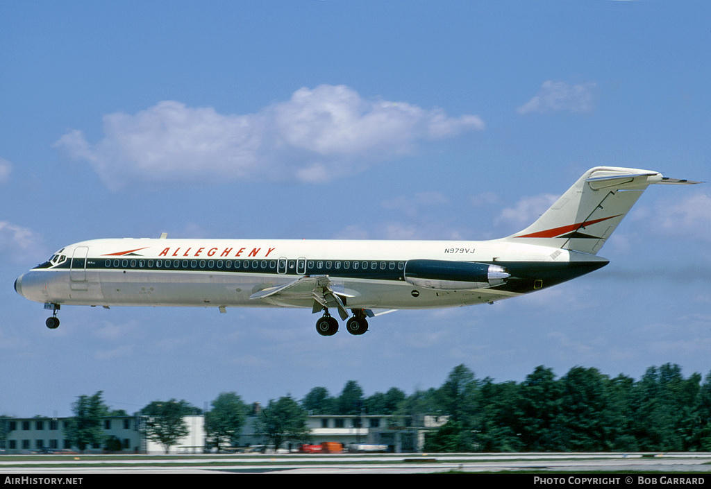 Aircraft Photo of N979VJ | McDonnell Douglas DC-9-31 | Allegheny Airlines | AirHistory.net