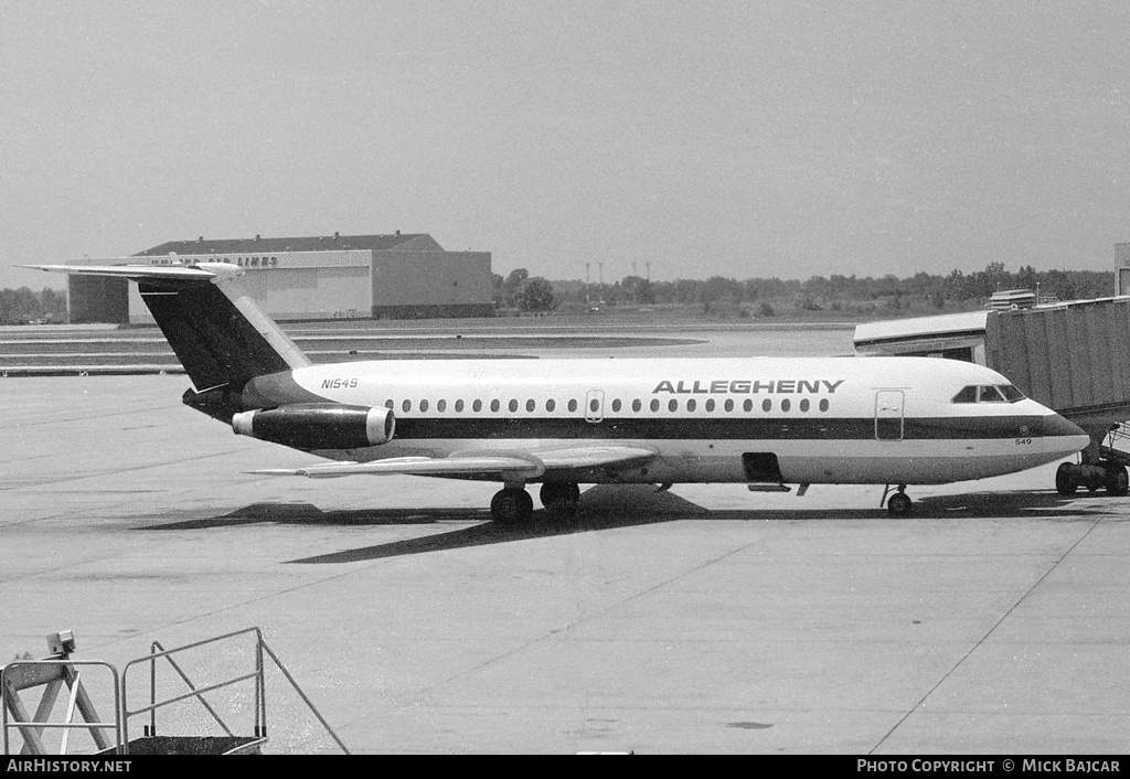 Aircraft Photo of N1549 | BAC 111-203AE One-Eleven | Allegheny Airlines | AirHistory.net #28902