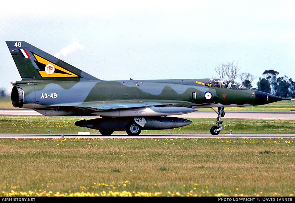 Aircraft Photo of A3-49 | Dassault Mirage IIIO(F/A) | Australia - Air Force | AirHistory.net #28954