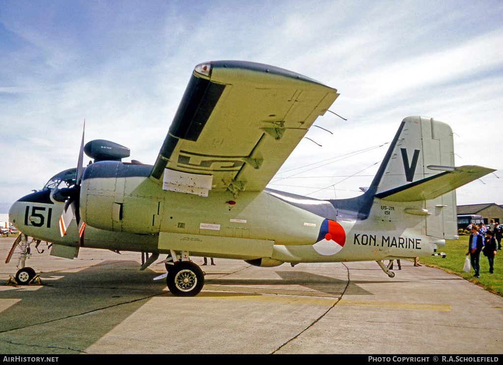 Aircraft Photo of 151 | Grumman US-2N Tracker (G-89) | Netherlands - Navy | AirHistory.net #29612