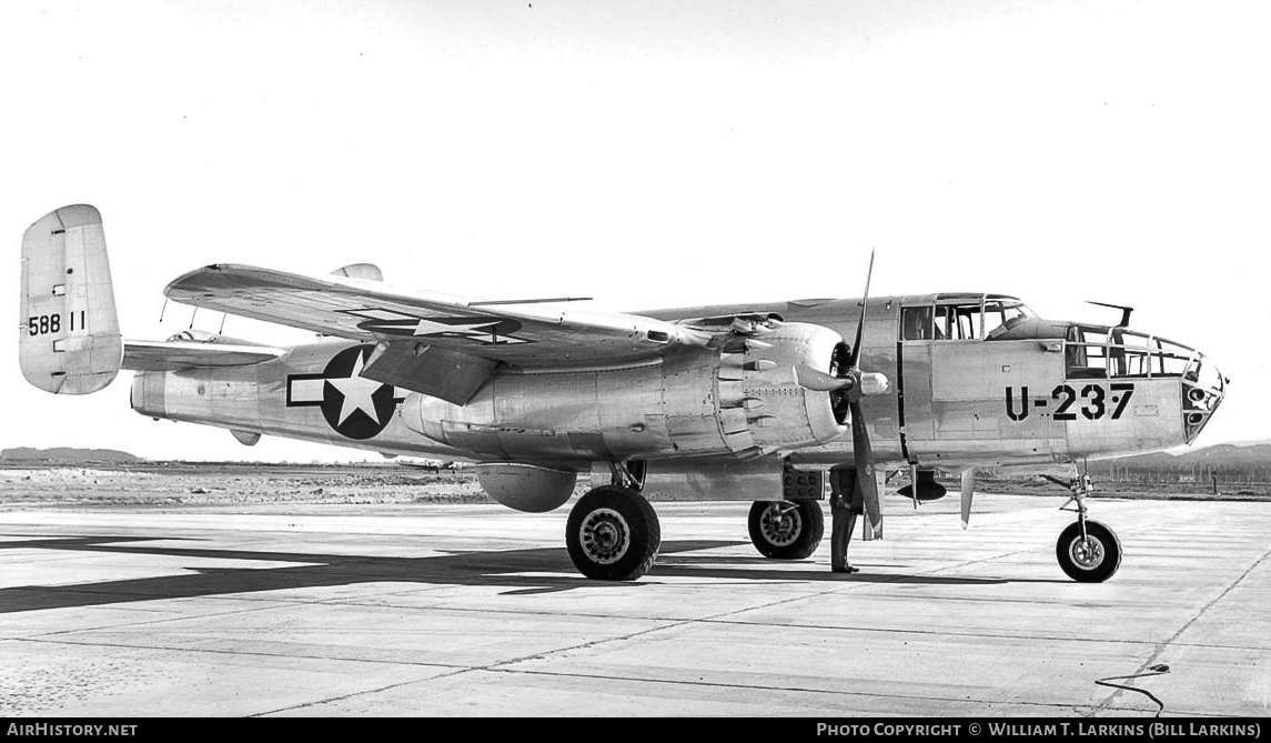 Aircraft Photo of 45-8811 / 58811 | North American TB-25J Mitchell | USA - Air Force | AirHistory.net #29970