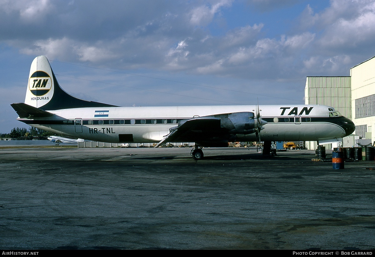Aircraft Photo of HR-TNL | Lockheed L-188C(F) Electra | TAN - Transportes Aereos Nacionales | AirHistory.net #30285