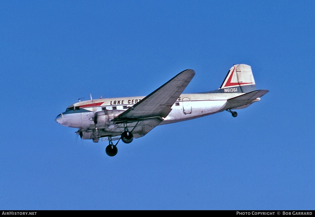 Aircraft Photo of N61351 | Douglas DC-3(C) | Lake Central Airlines | AirHistory.net #30631