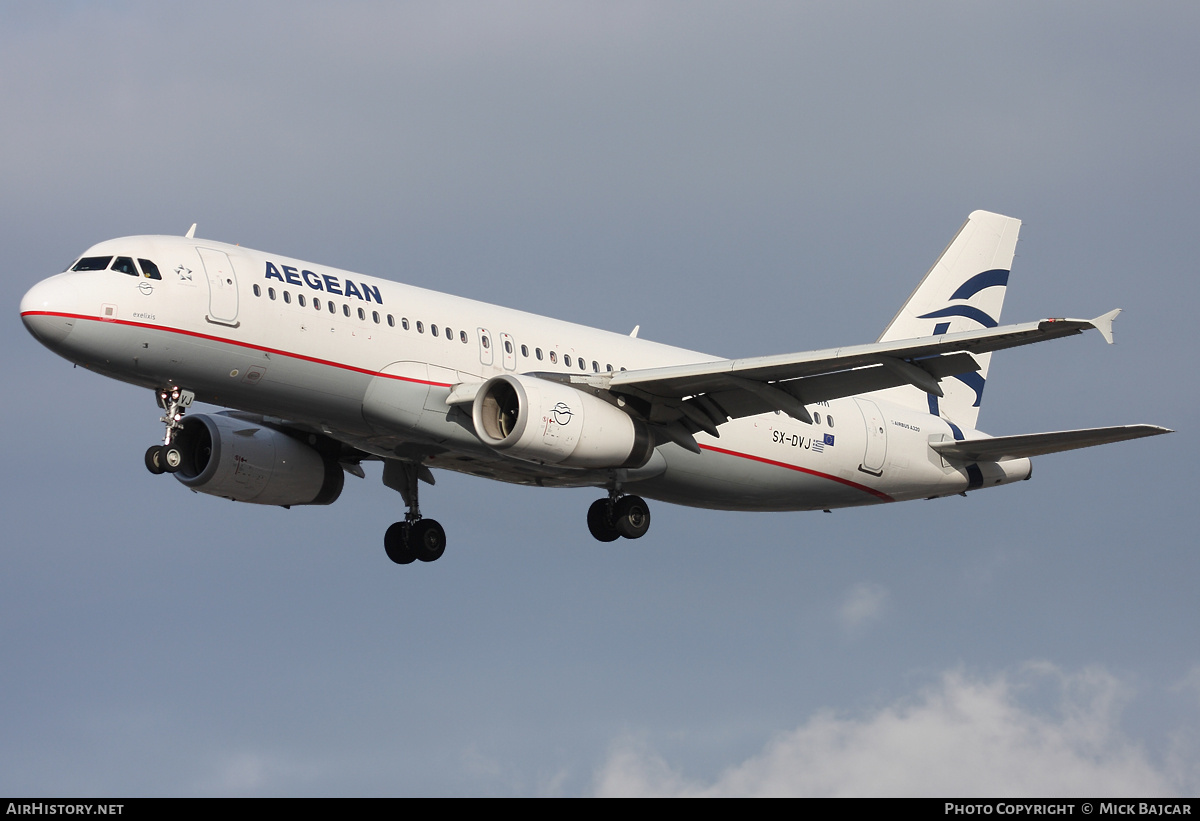 Aircraft Photo of SX-DVJ | Airbus A320-232 | Aegean Airlines | AirHistory.net