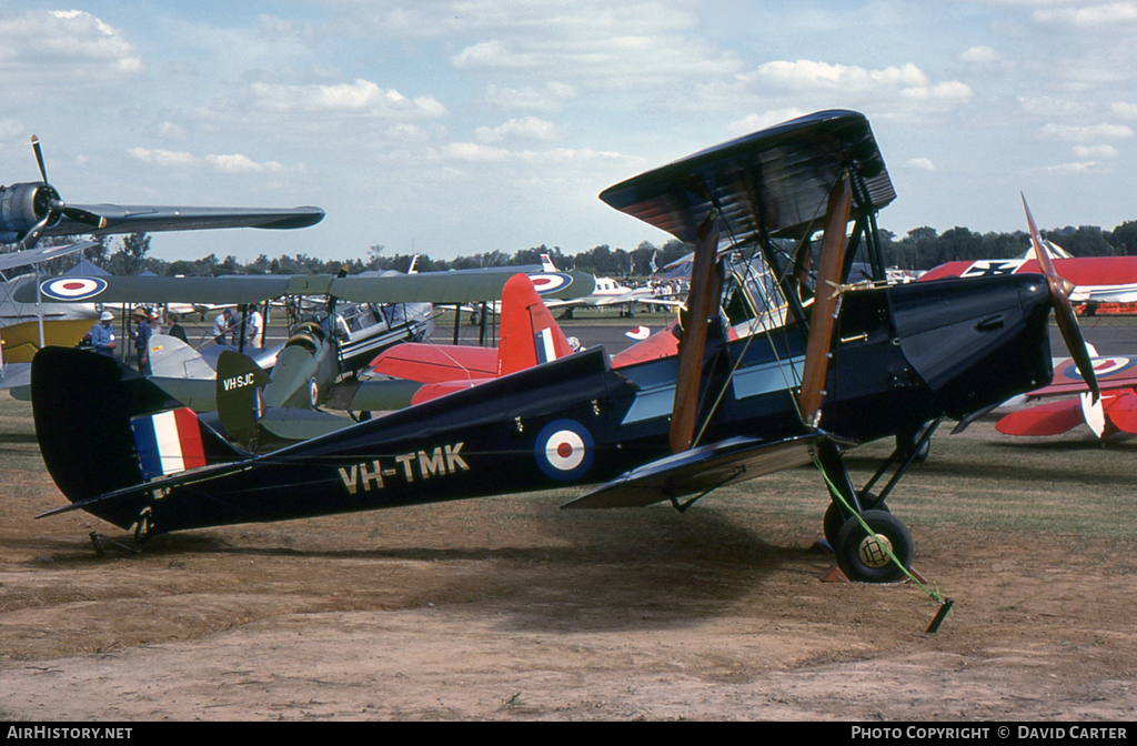 Aircraft Photo of VH-TMK | De Havilland D.H. 82A Tiger Moth | Australia - Air Force | AirHistory.net #31535