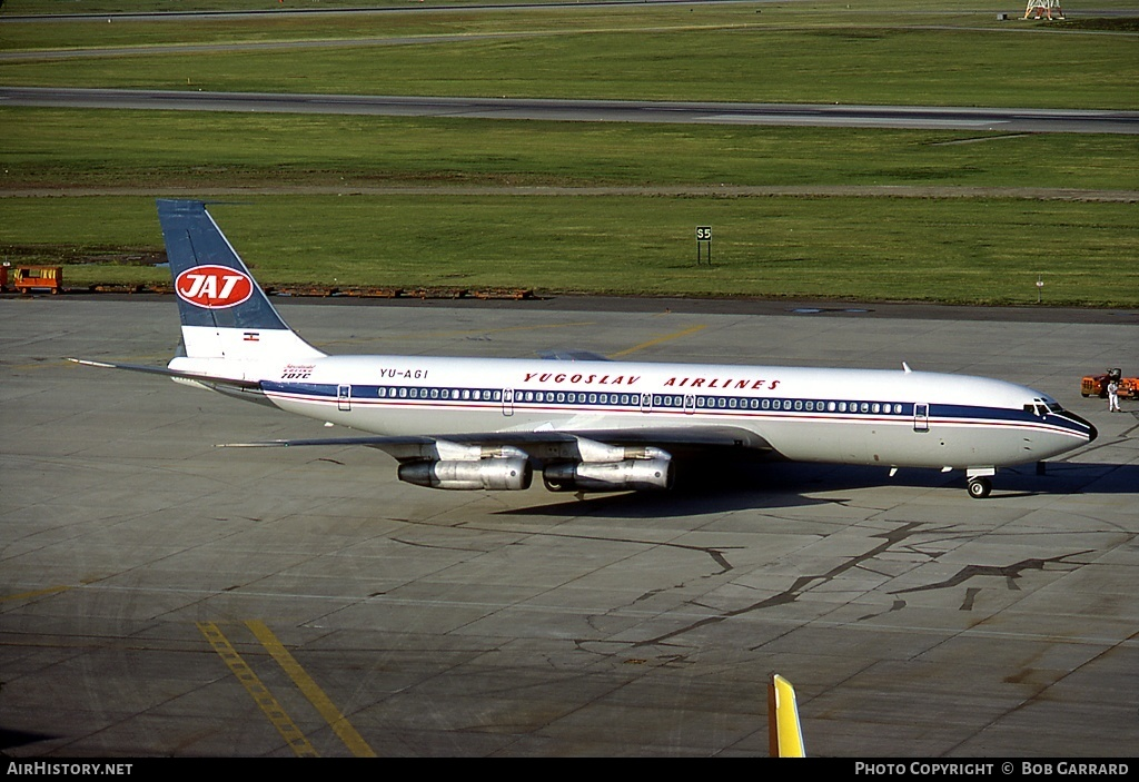 Aircraft Photo of YU-AGI | Boeing 707-351C | JAT Yugoslav Airlines | AirHistory.net #31580
