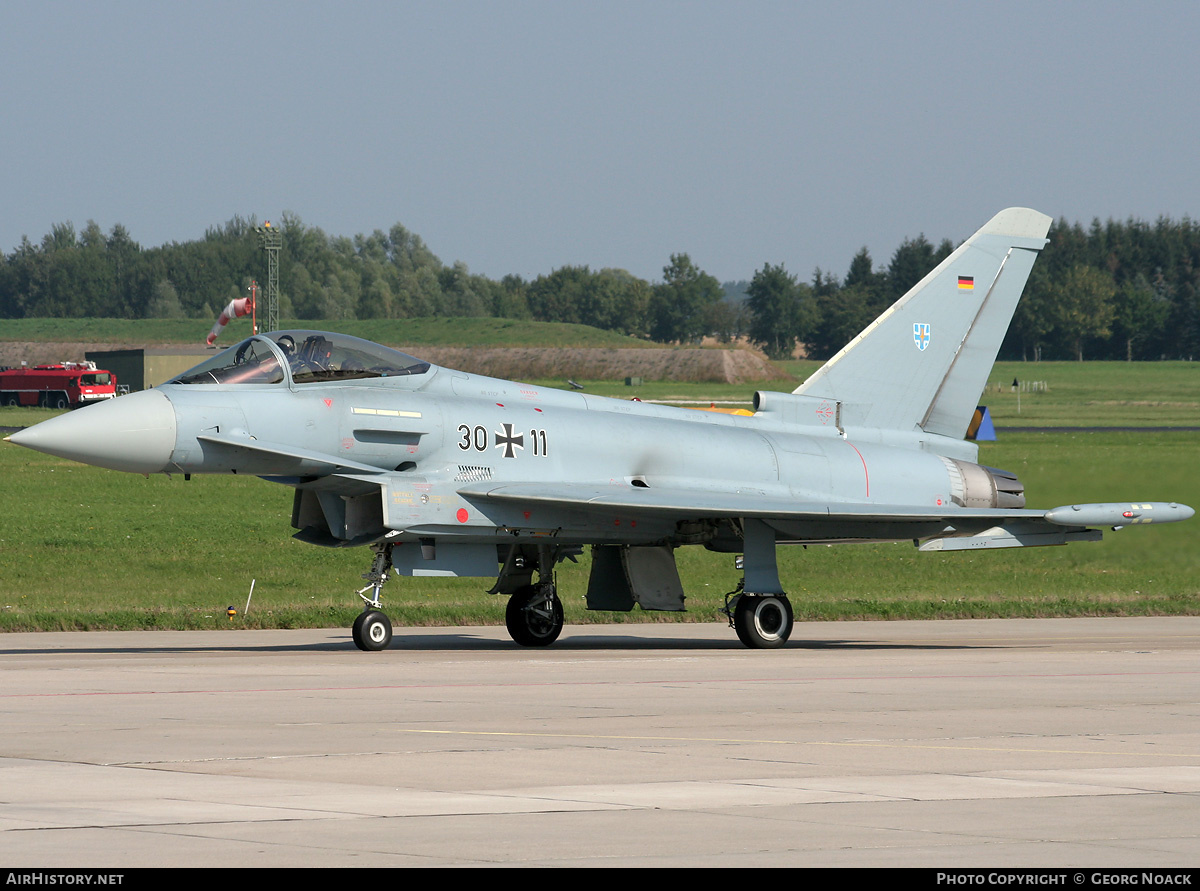 Aircraft Photo of 3011 | Eurofighter EF-2000 Typhoon S | Germany - Air Force | AirHistory.net #31728