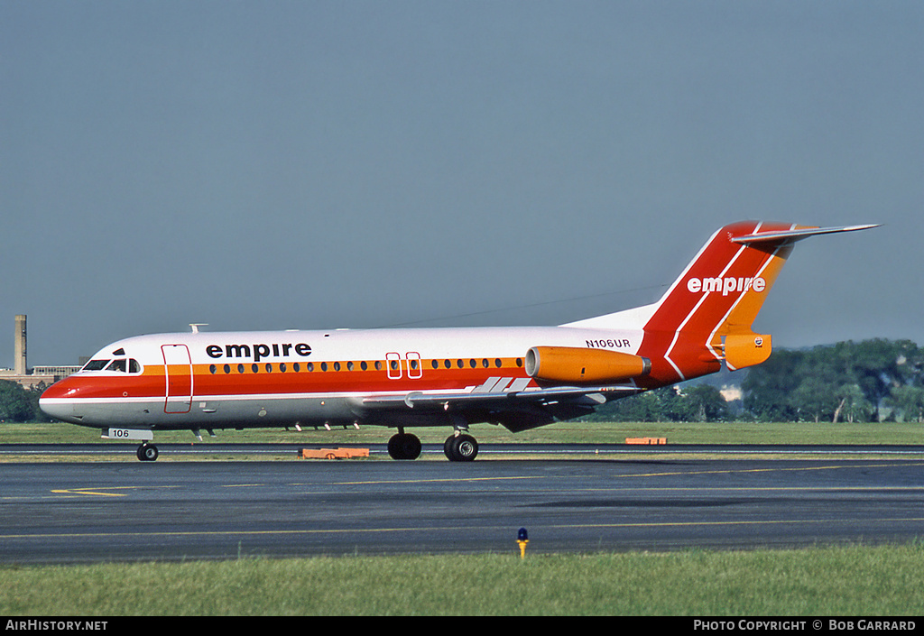 Aircraft Photo of N106UR | Fokker F28-4000 Fellowship | Empire Airlines | AirHistory.net #32058