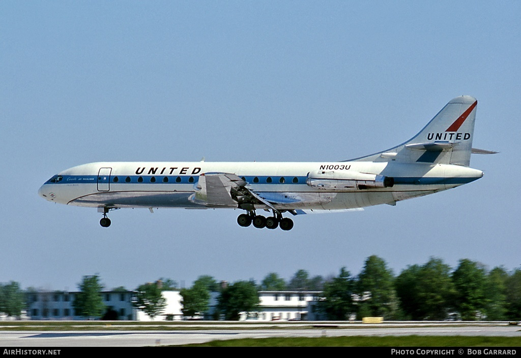 Aircraft Photo of N1003U | Sud SE-210 Caravelle VI-R | United Airlines | AirHistory.net #32565