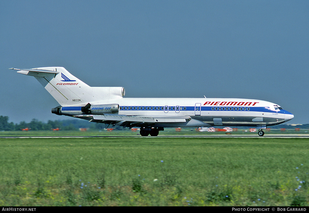 Aircraft Photo of N833N | Boeing 727-30 | Piedmont Airlines | AirHistory.net #33247