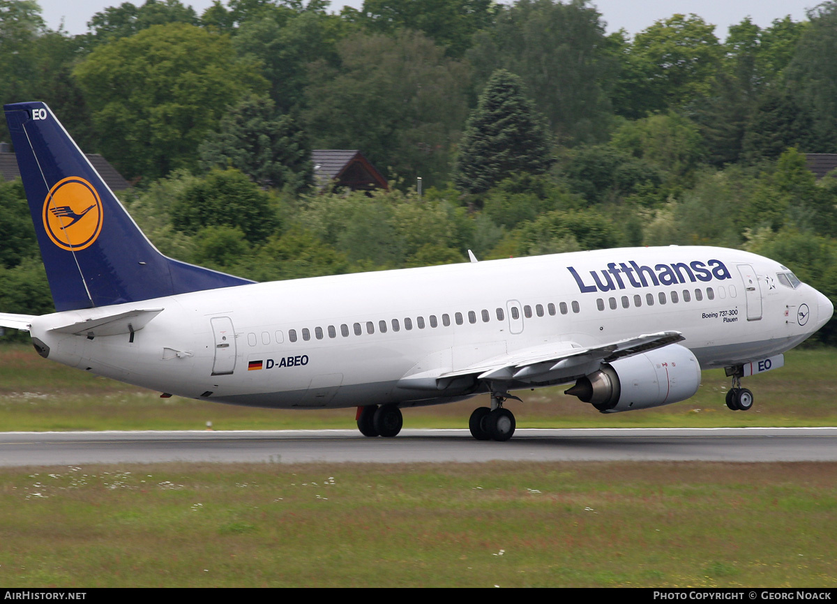 Aircraft Photo of D-ABEO | Boeing 737-330 | Lufthansa | AirHistory.net #33570