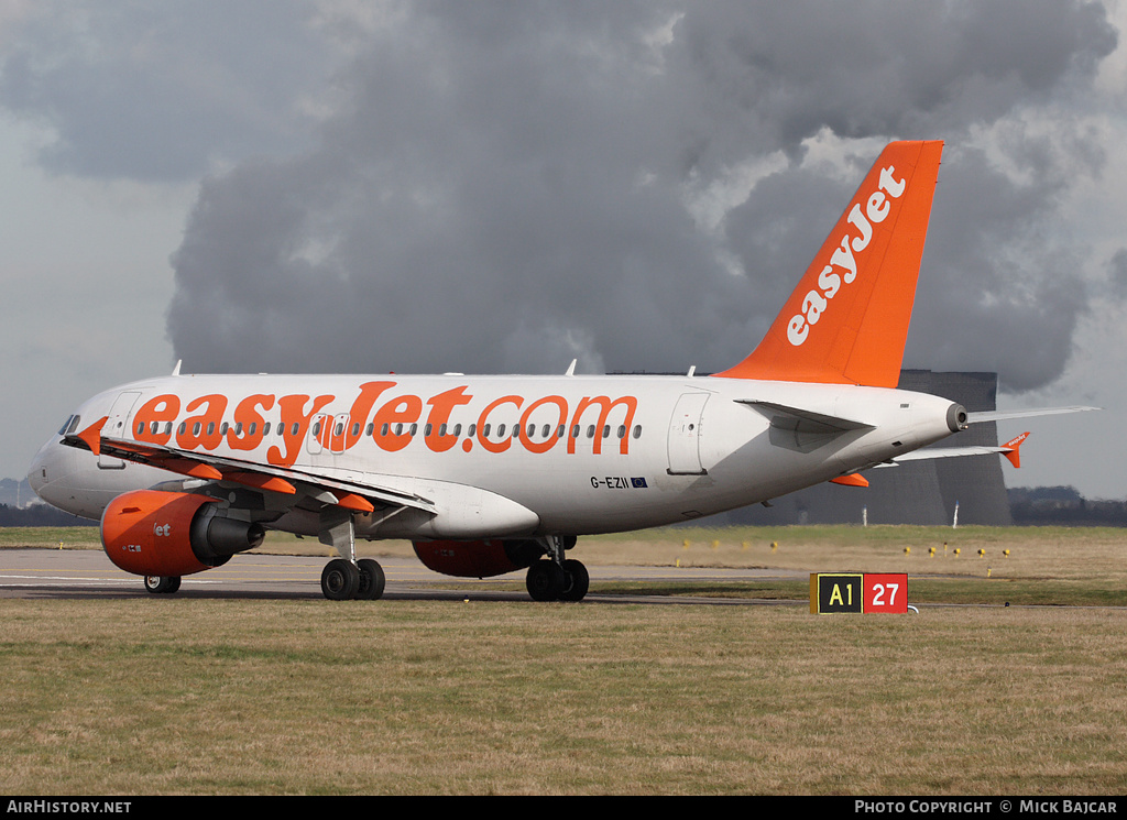 Aircraft Photo of G-EZII | Airbus A319-111 | EasyJet | AirHistory.net #33657